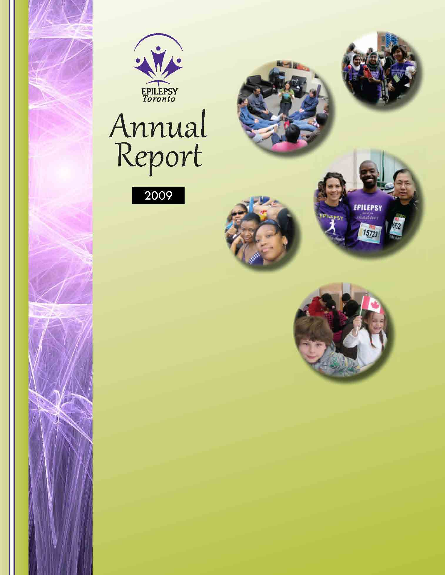 Epilepsy Toronto 2009 Annual Report cover page