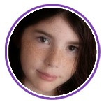 Photo of a young girl (Purple Day)