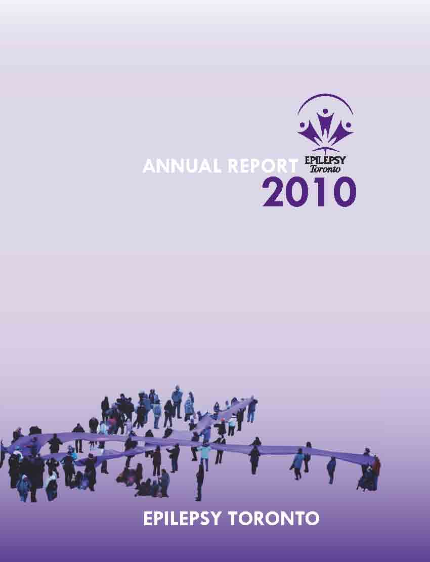 Epilepsy Toronto 2010 Annual Report cover page