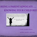 Guida Cloza, Being A Parent Advocate presentation title slide