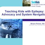 Miriam Riches, Navigating the Education System presentation title slide