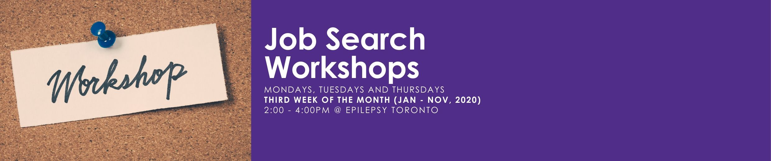 Job Search Workshops