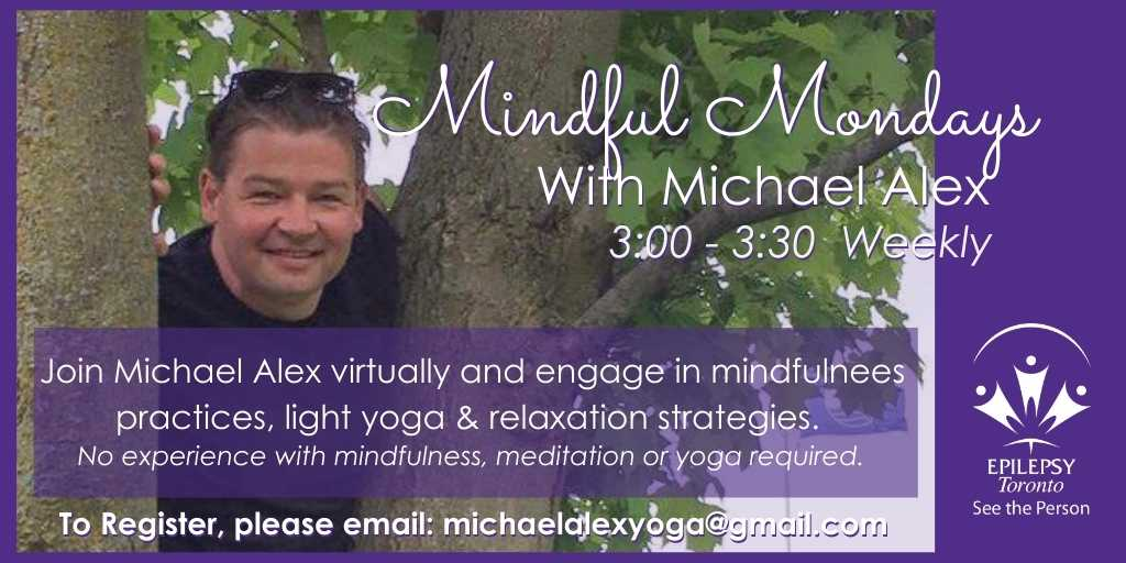 Image of Mindful Mondays Instructor Michael Alex in a tree