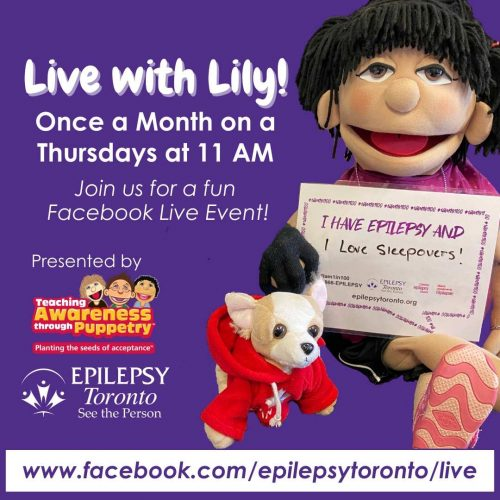 Image of Lily the puppet and her toy dog