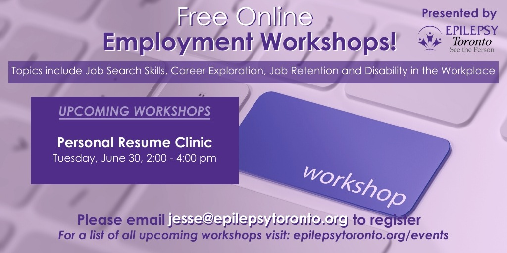 Promotional image for resume clinic