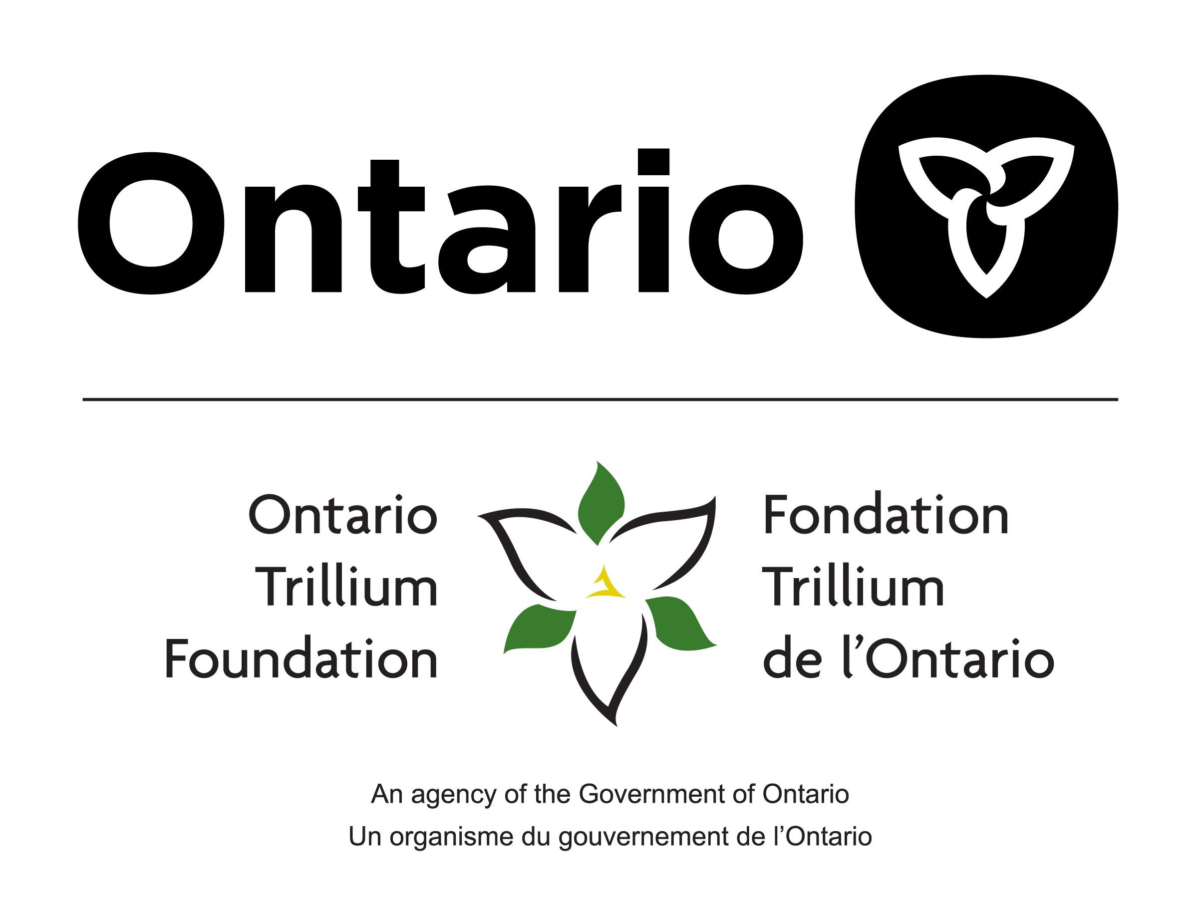 Ontario and Ontario Trillium Foundation logos