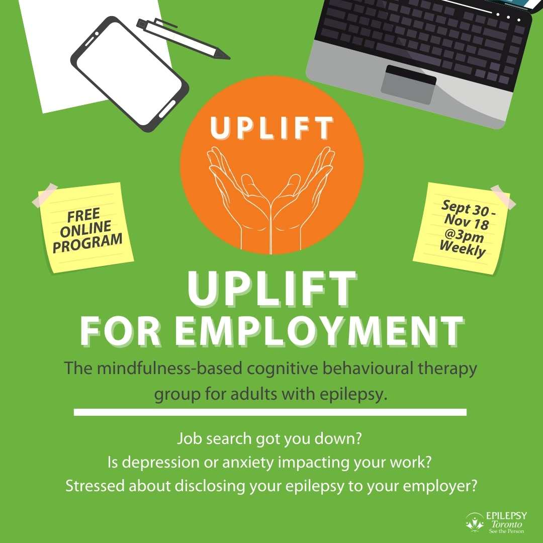 UPLIFT logo with two hands together and open, a laptop, paper, pen and mobile.